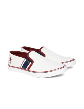 U.S. Polo Assn. Men White Casual Shoes