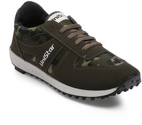 Unistar CamoGreen Men's Jogging, Walking & Running Narrow Toe Shoes 602-CamoGreen
