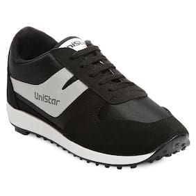 reputable site 7e336 774a4 Unistar Men Black Walking Shoes