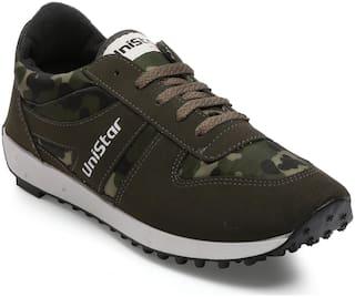 f3e5917a1819 Unistar CamoGreen Men's Jogging, Walking & Running Narrow Toe Shoes  602-CamoGreen