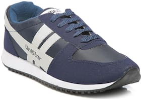 Unistar Jogging/Walking Shoes (032-Blue  Size-7)