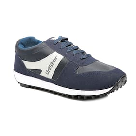 Unistar Jogging/Walking Shoes (602-Blue  Size-5)