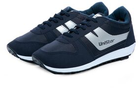 Unistar Jogging;Walking and Running _Narrow Toe_ Shoes_621-Blue