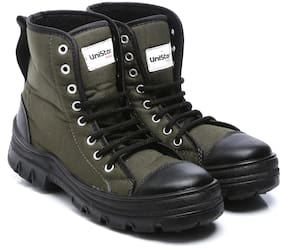 Men Green Outdoor Boots