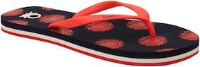 United Colors Of Benetton Women'S Flip Flop Navy / Red-7