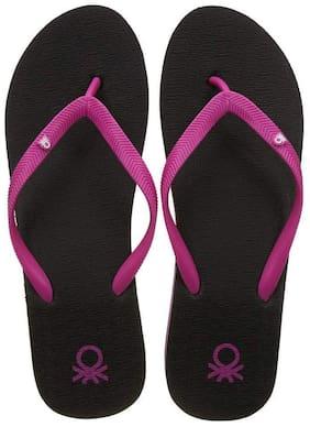 United Colors Of Benetton Women Black Slippers