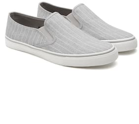 United Colors Of Benetton Men Grey Casual Shoes
