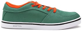 United Colors Of Benetton Men Green Sneakers - 17p8core1001i