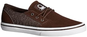 United Colors Of Benetton Men Brown Sneakers - 16a8suedfw43i