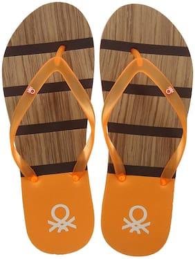 United Colors Of Benetton Women Orange Slippers