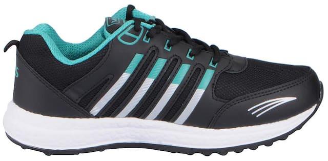 Vandeu Men Black Running Shoes - 266018 Blk S Grn