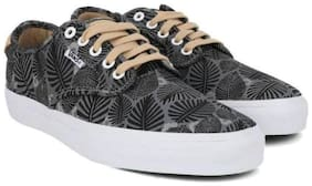Vans Men Grey & Black Canvas Shoes