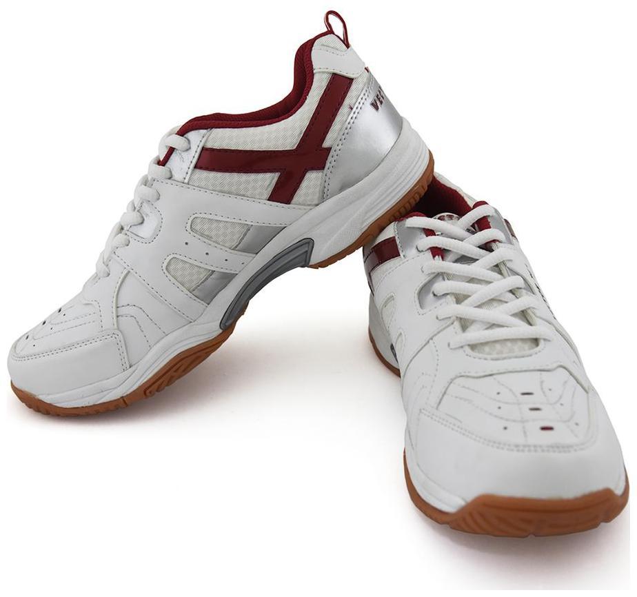 Vector X Men Non Marking Badminton/Squash Shoes  White