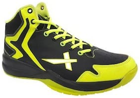 Vector X Basketball Shoes For Men (Black;Green)