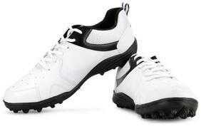 Vector X Blast Cricket Shoes For Men (White;Black)