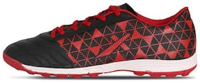 Vector X Football Shoes For Men (Black;Red)