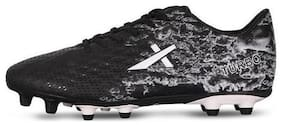 Vector X TURBO Football Shoes (Black-White) (Size-4)