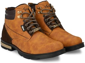 VELLINTO Men Brown Ankle Boots - CASUAL BOOTS - ART_CA105BEG_9