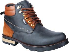 VELLINTO Men Black Ankle Boots - CASUAL BOOTS - ART_CA105BLK_8