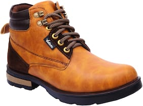 VELLINTO Men Tan Ankle Boots - CASUAL BOOTS - ART_CA105T_8