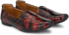 VELLINTO Men Red Casual Shoes - PATENT LEATHER CASUAL SHOES - ART_CA126RED_7