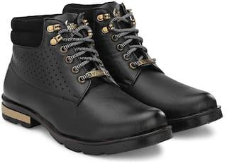 VELLINTO Men Black Ankle Boots - CASUAL BOOTS - ART_CA109BLK_8