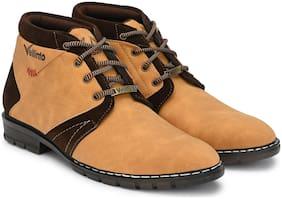 VELLINTO Men Beige Outdoor Boots - ART_CA115T_10