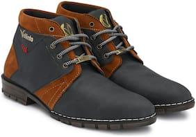 VELLINTO Men Black Outdoor Boots - ART_CA115BLK_8