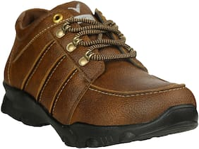VELLINTO Men Brown Outdoor Boots - CASUAL SYNTHETIC BOOTS