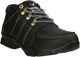 VELLINTO Men Black Outdoor Boots - CASUAL SYNTHETIC BOOTS