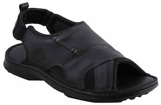 9c6bd943ca47 Buy Ventoland Men Black Sandals   Floaters Online at Low Prices in ...