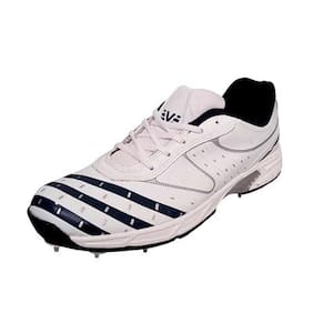 Vijayanti OC28 White Blue Full Spikes Shoes