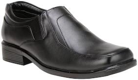 VINCENZO Men Black Formal Shoes