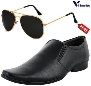 Vitoria Slip-On Formal Shoes For Men ( BLACK )