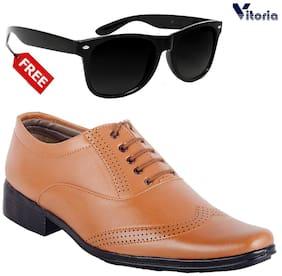 Vitoria Men Tan Formal Shoes