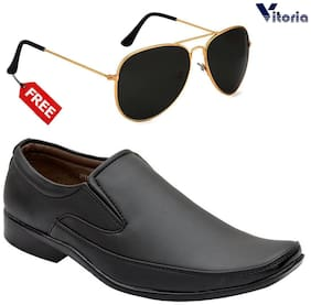 Men Slip-On Formal Shoes ( Black )