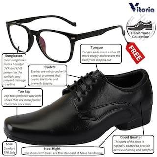 Vitoria Men Black Derby Formal Shoes