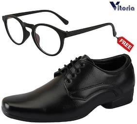 Men Derby Formal Shoes ( Black )