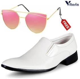 Men Slip-On Formal Shoes ( White )