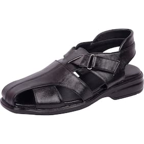 6fa0ff524aaa Vonzo Men Black Covered Sandal Shoes 704