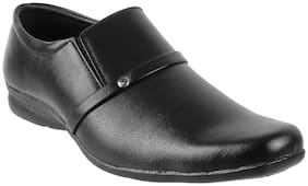 WALKWAY Men Black Slip-On Formal Shoes - 19-2957 - 19-2957-BLACK