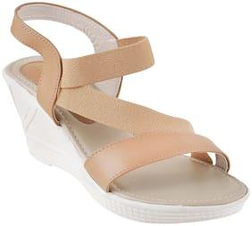 WALKWAY Women Beige Heeled Sandals