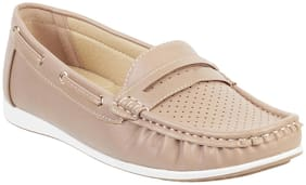 WALKWAY Women Beige Loafers