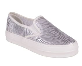 WHITE CASUAL SHOES BY BERRY PURPLE