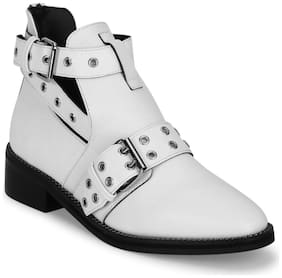 Truffle Collection Women White Ankle length Boots