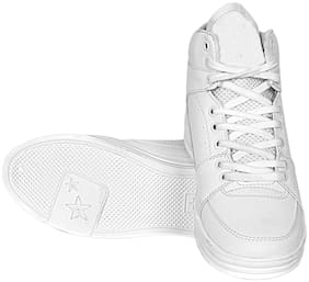 SIM STYLE Men White Sneakers