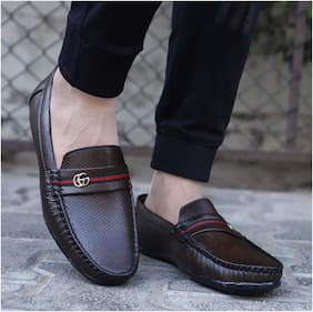 Loafers For Men ( Brown )