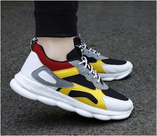 WHITE WALKERS Running Shoes For Men ( Multi-Color )