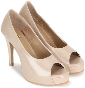 Wika Beige Heels For Women