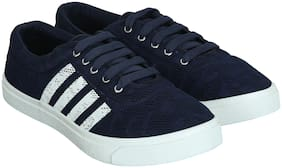 WIKA Men Blue Sneakers